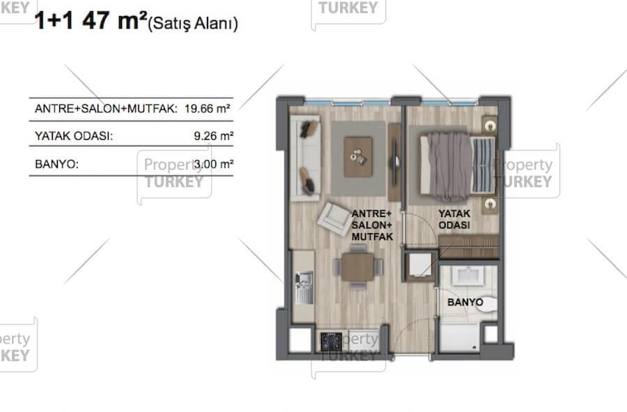 1+1 apartments site plans