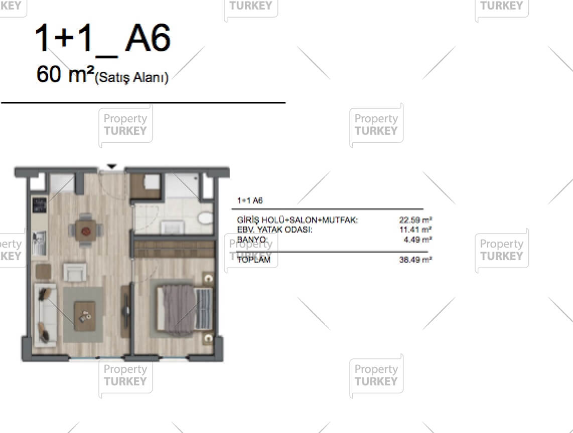 1+1 apartments site plans