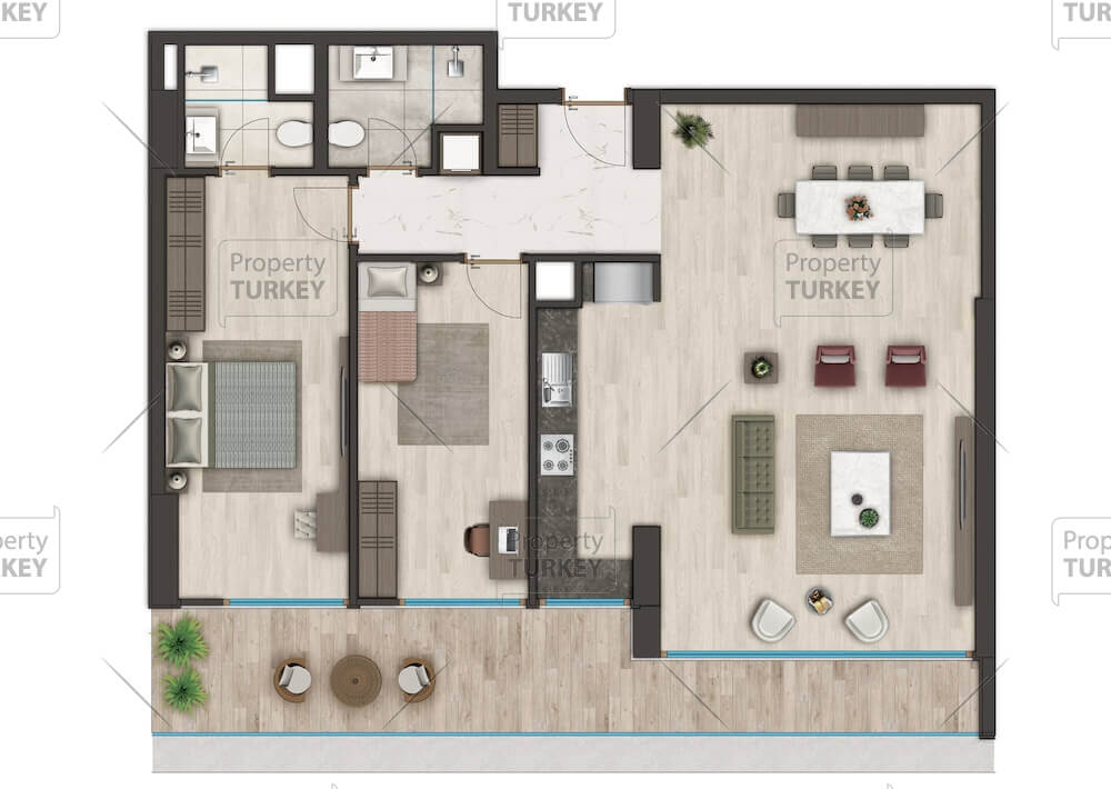 2+1 apartment layout