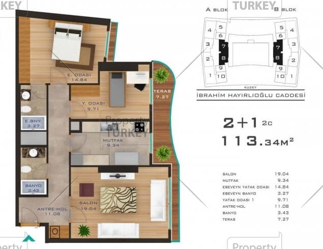 2+1 apartments site plans