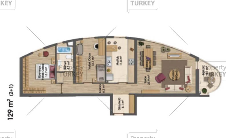 2+1 apartments option b