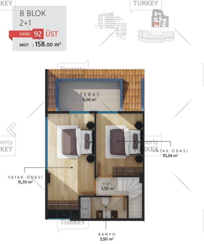 Second floor duplex apartment site plans