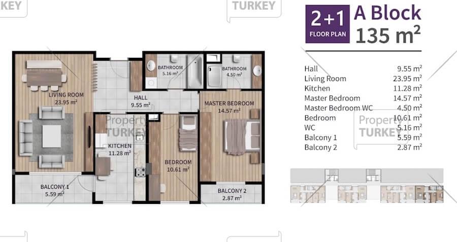 2+1 apartments site plans