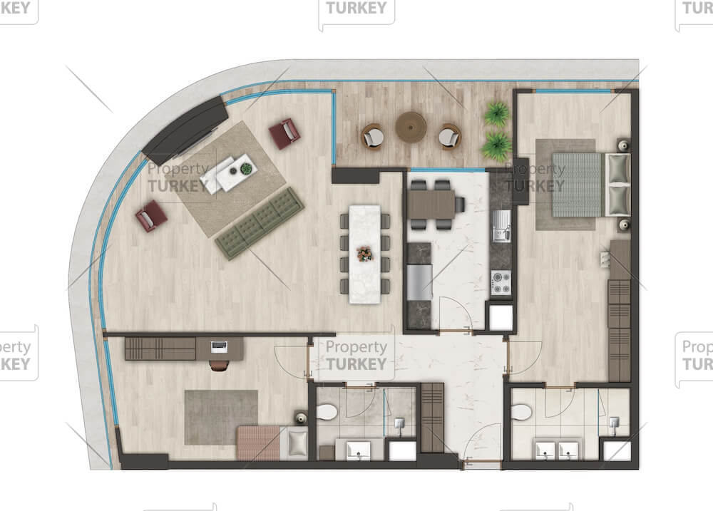 2 bedrooms apartments site plans