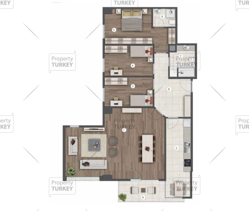 3+1 apartments site plans