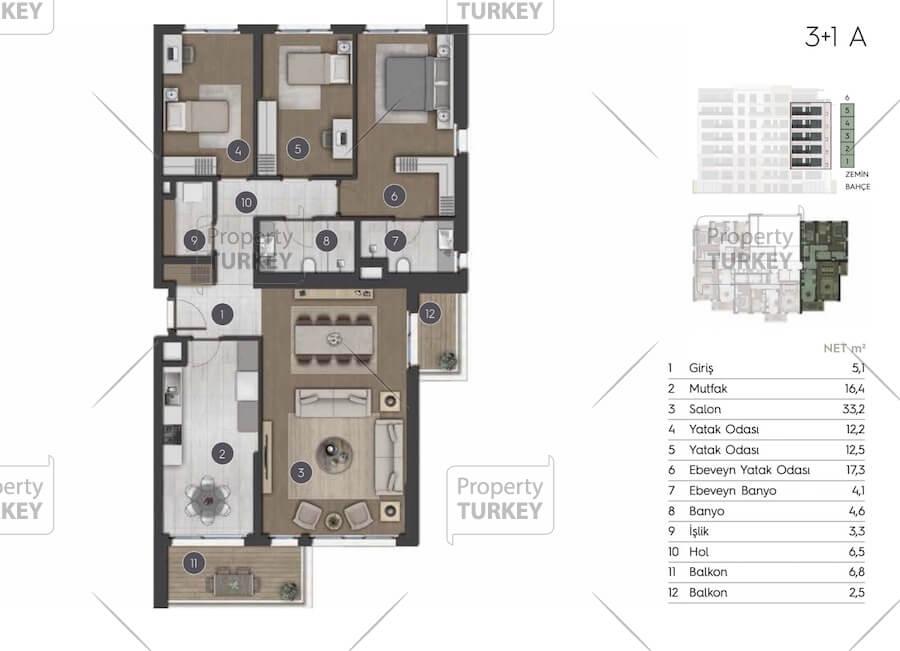 Villas 3+1 layout