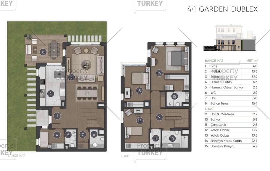 4+1 apartments site plans