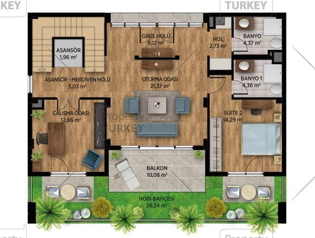Villas ground floor site plans