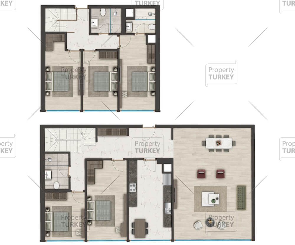 Layout of the 5+1 apartment