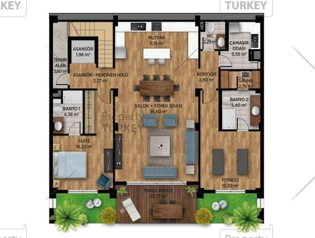 Villas first floor site plans