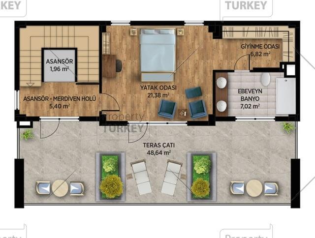 Second floor villas site plans