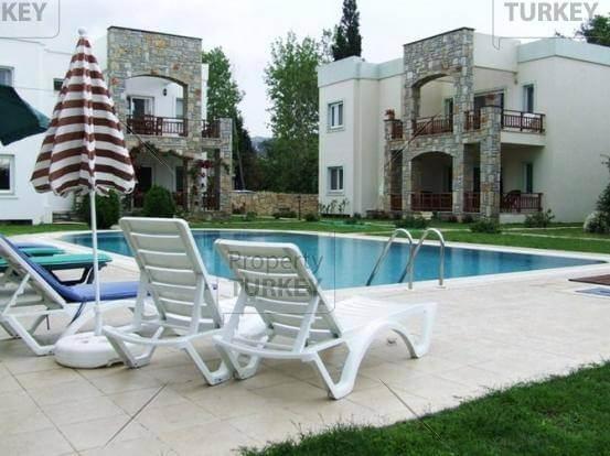 Swimming pool view from apartment in Yalikavak