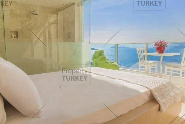 Panoramic double bedrooms Komurluk bay view