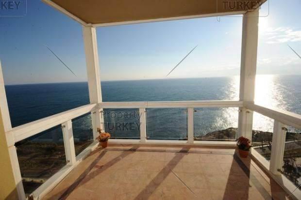 Terrace of Antalya beach apartment