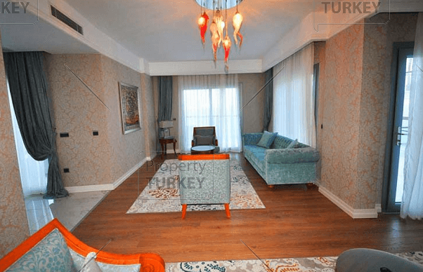 Living room with open plan layout