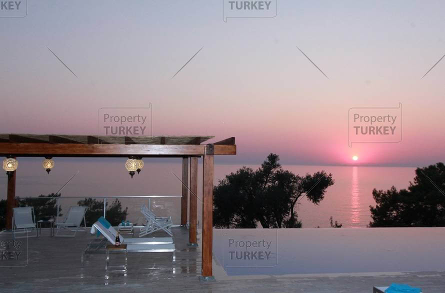 Stunning sunset over Faralya coast