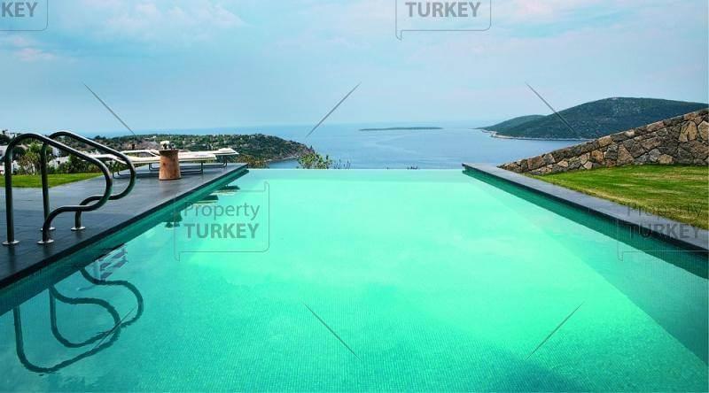Swimming pool Hebil Bodrum seafront villa