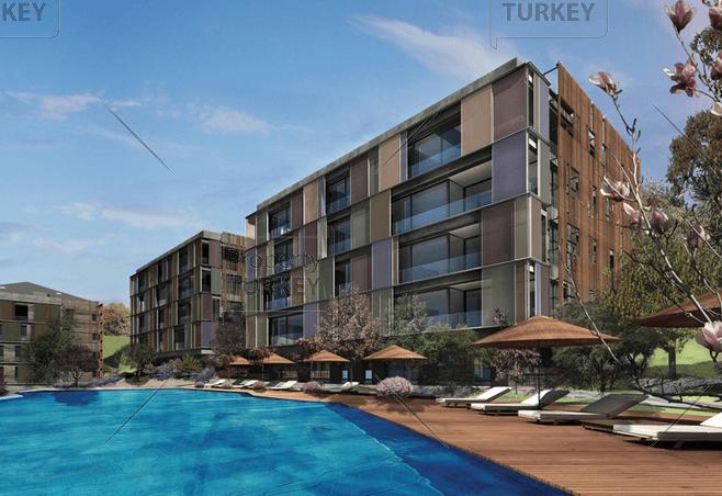 Istanbul Ulus luxury homes Pool view