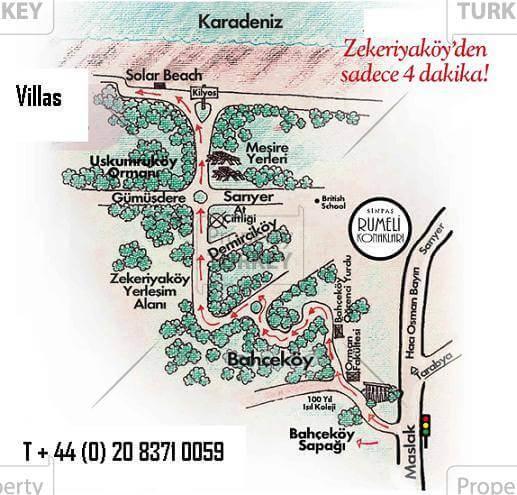 Villa location Zekeriyakoy