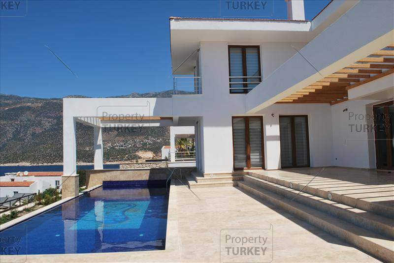Villa for sale in kas turkey with superb sea view for Contemporary real estate for sale