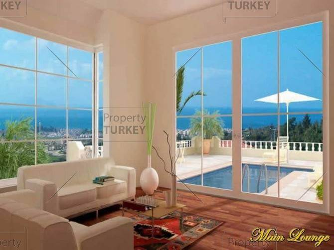 Kusadasi villa with large living room