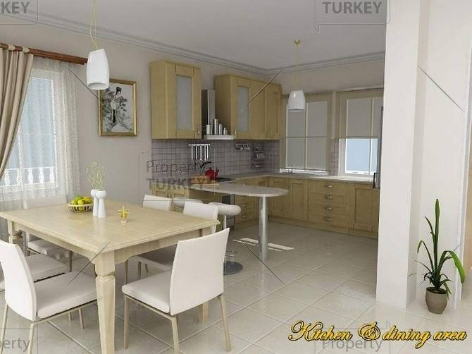 Open plan dining area