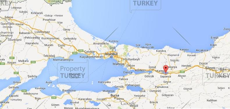 Sapanca map Turkey