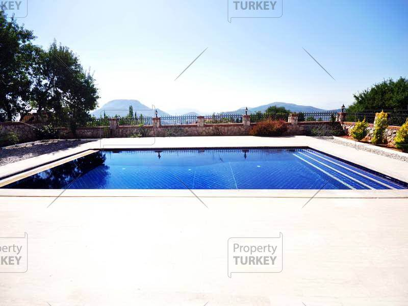 Large private pool for White House Fethiye