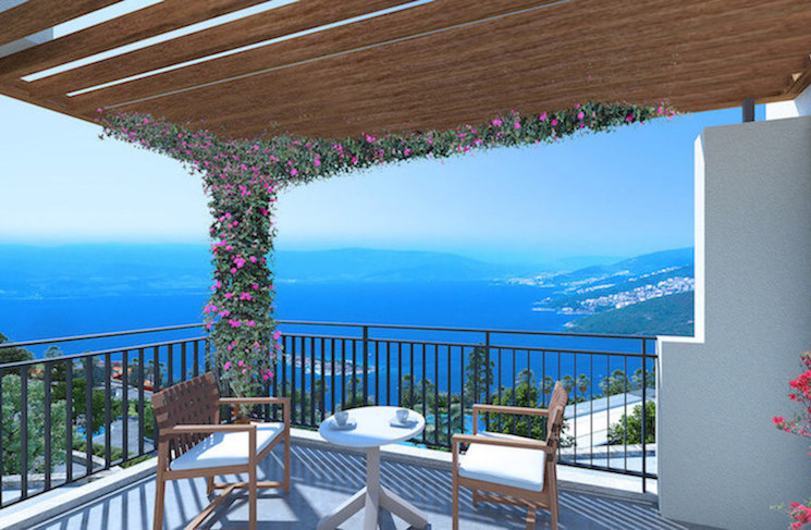 Balcony with ocean views