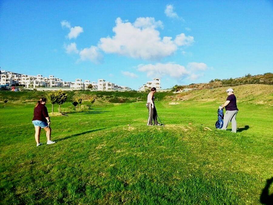 Complex golf course