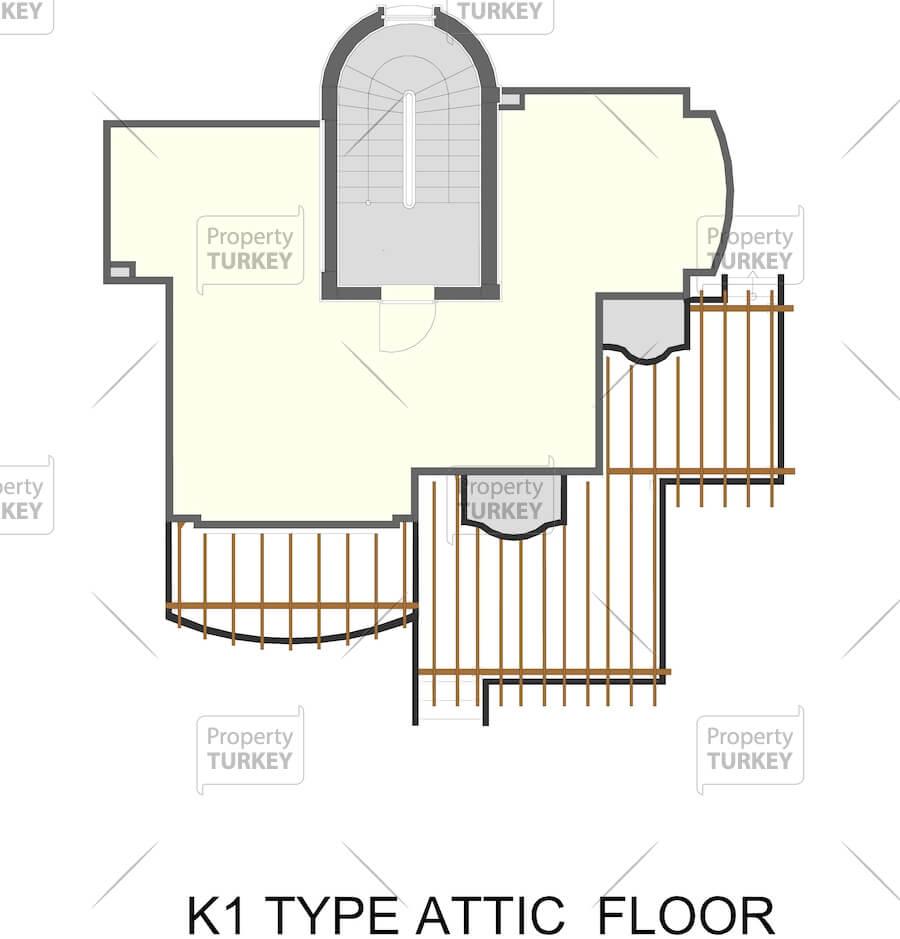 Site plans of the top floor