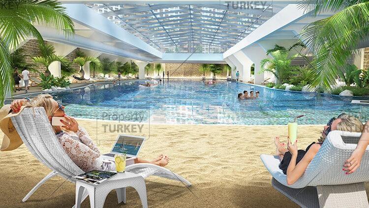 Luxury shared indoor beach
