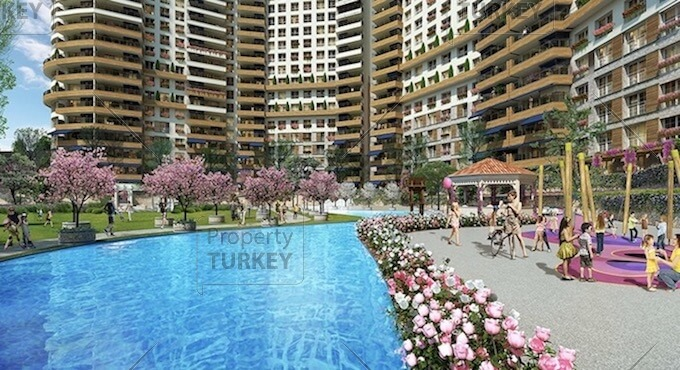 Ankara apartments with private beach for sale