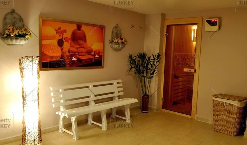 Sauna entrance