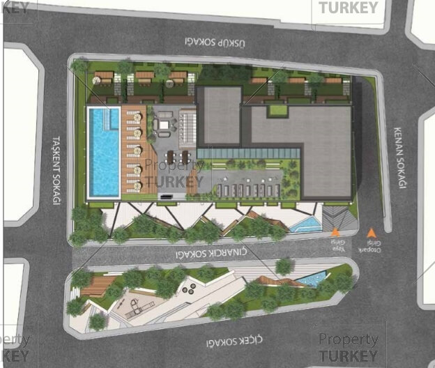 Oxygen residence in sisli istanbul sustainable energy for Apartment complex layout