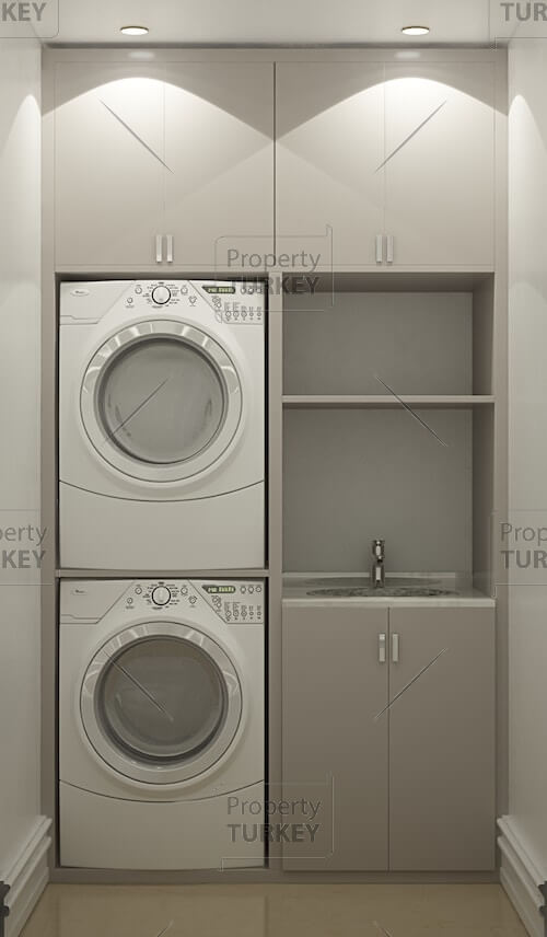 Apartments laundry area