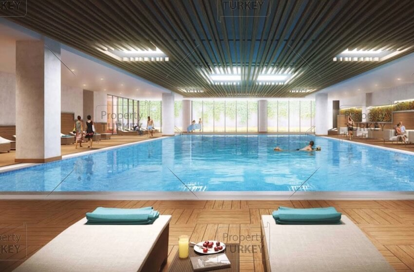 Shared covered swimming pool