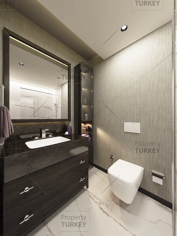 Apartments large bathroom