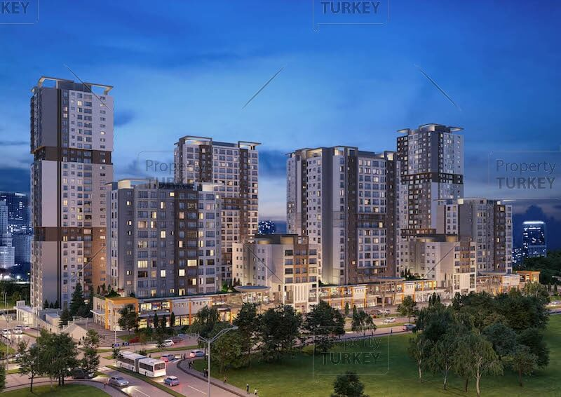 Complex of apartments in Istanbul