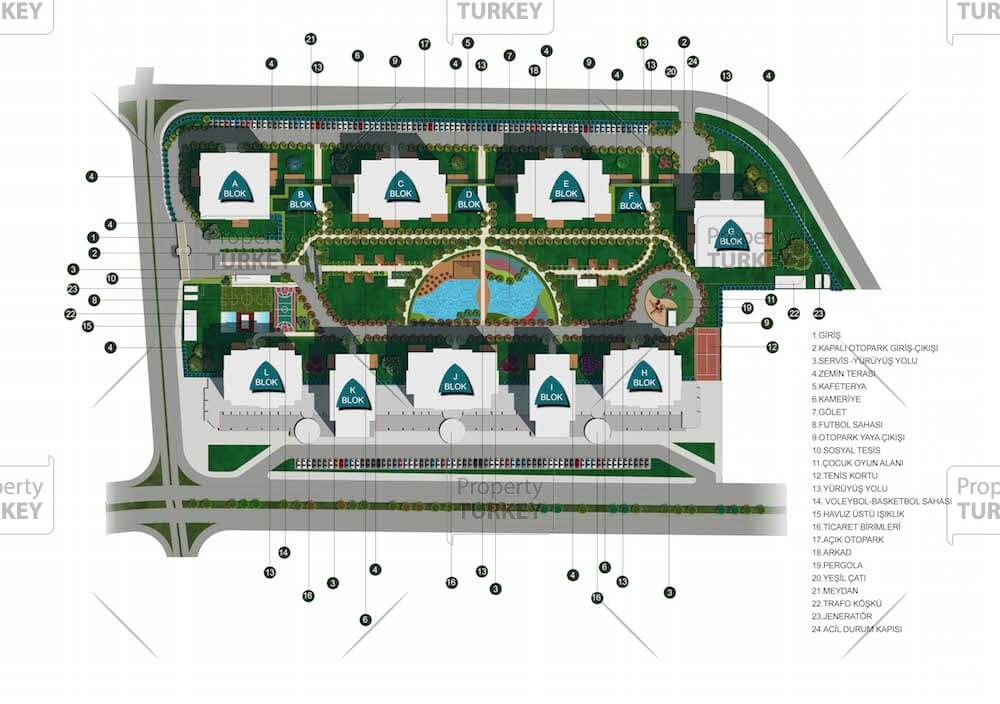 Layout of the complex