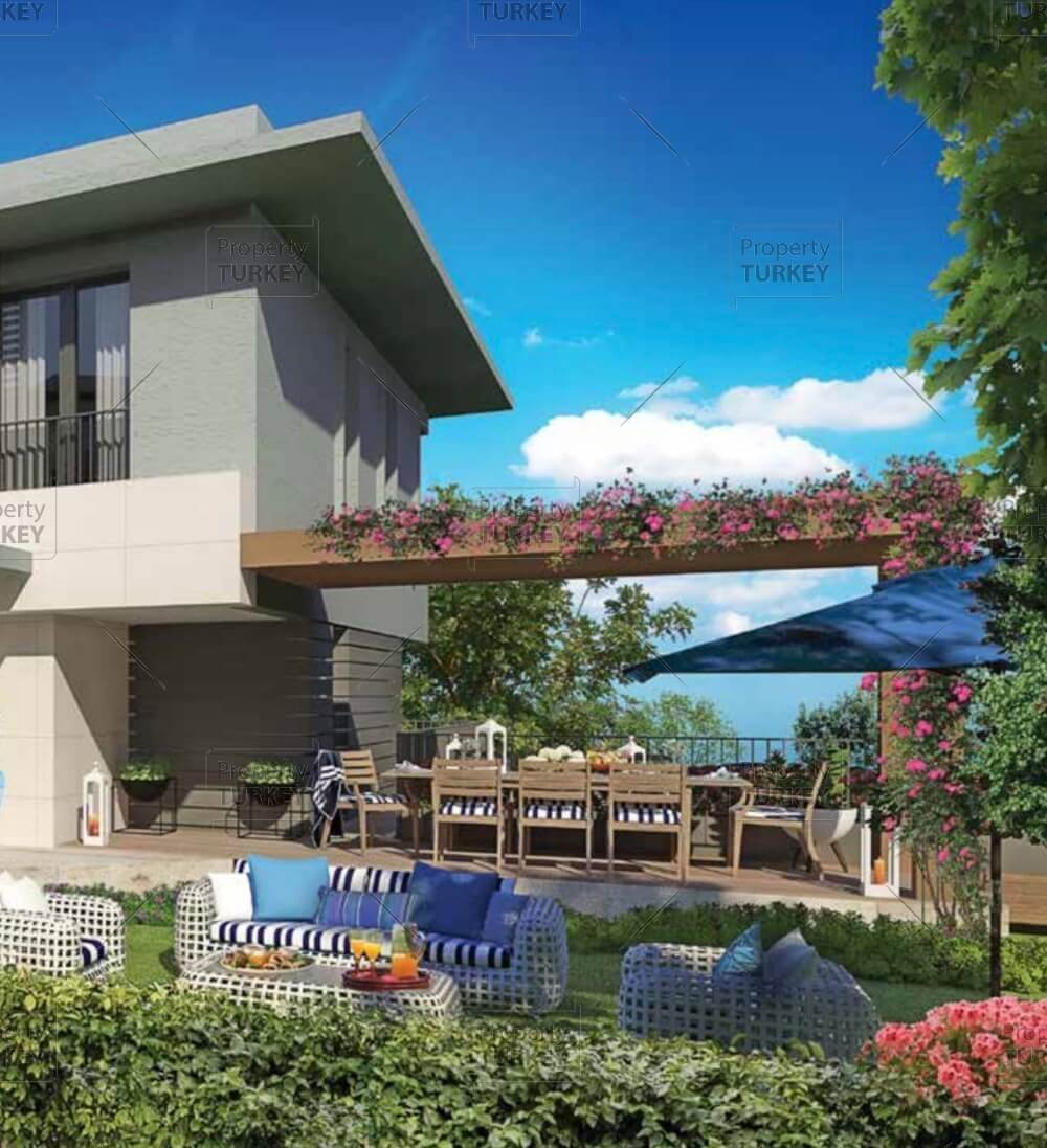 Private oasis family villas in green bahcesehir property for Family villas