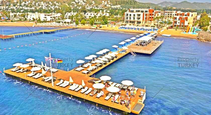 Beach hotel residence in Bodrum for sale