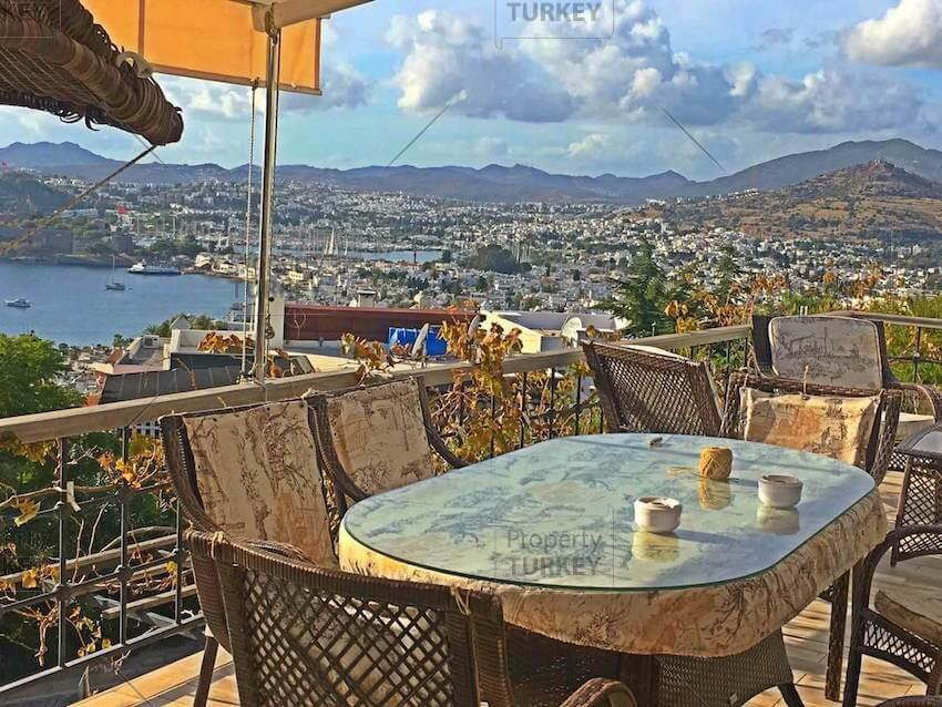Balcony relaxing area