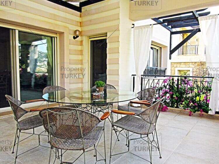 Villa with balconies