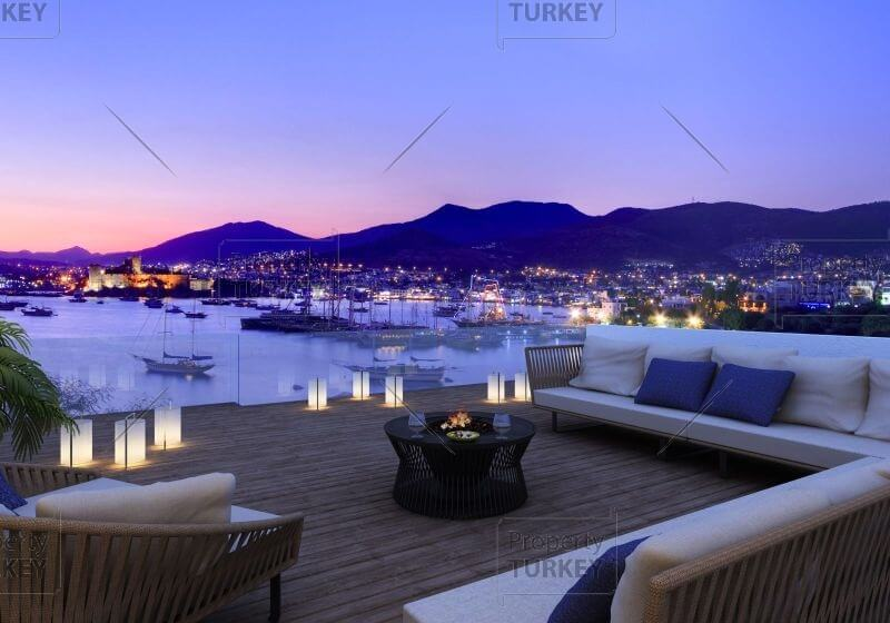 Bodrum sea view apartments for sale