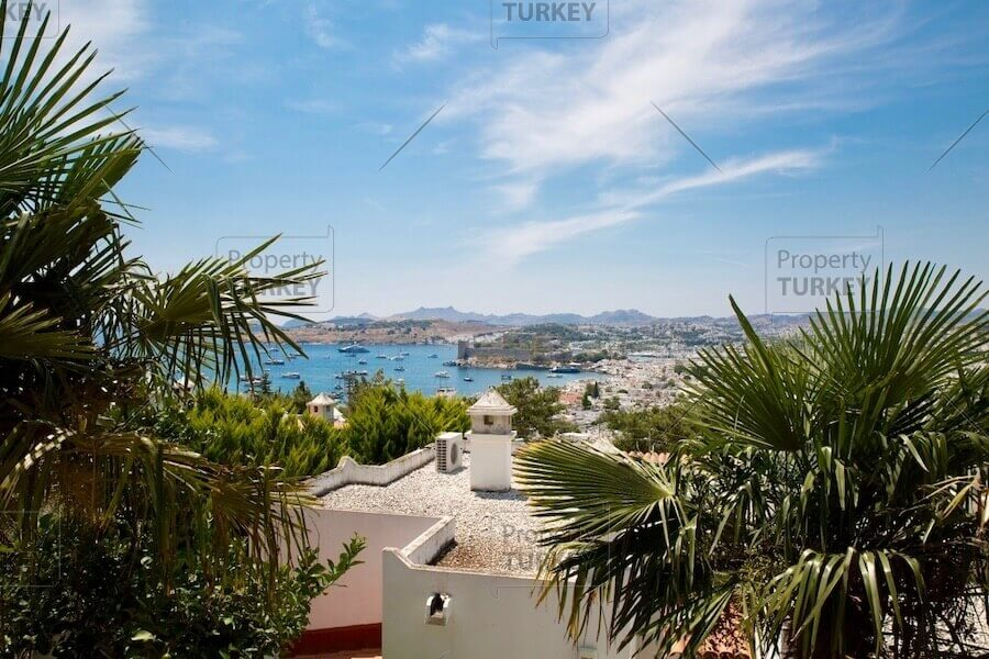 Castle views residence for sale in Bodrum
