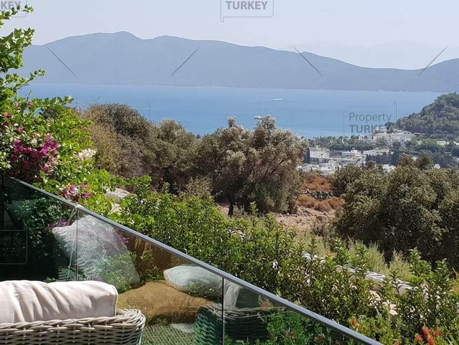 Bodrum panoramic sea vie villa for sale