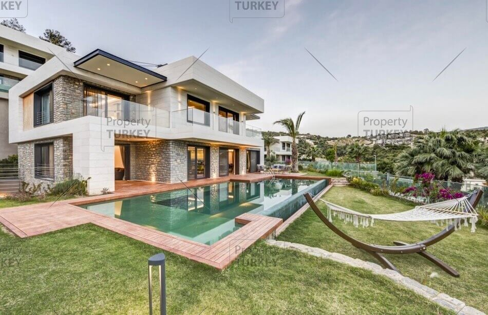 Sea view residence for sale in Bodrum