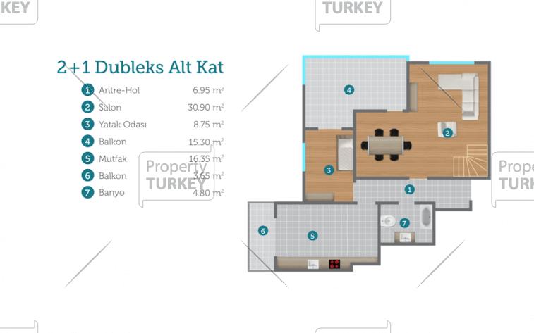 2 bed duplex