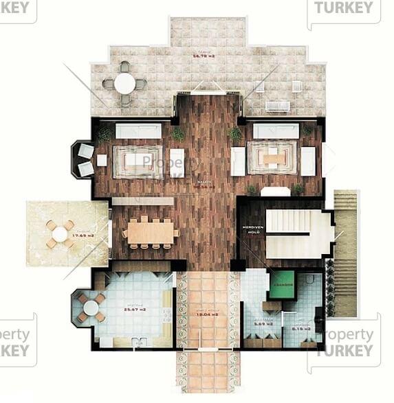 Villas first floor plans